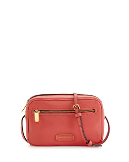 MARC by Marc Jacobs Sally Pebbled Leather Crossbody Bag, Rosebush