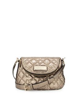 MARC by Marc Jacobs New Q Mini Quilted Natasha Crossbody Bag, Gold