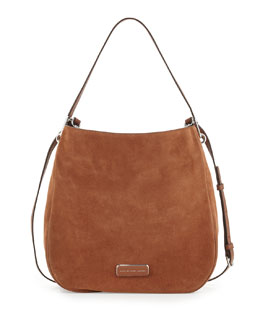 MARC by Marc Jacobs Ligero Sporty Suede Hobo Bag, Cinnamon Stick
