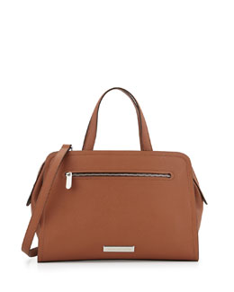 MARC by Marc Jacobs Luna Saffiano Alaina Satchel Bag, Cinnamon Stick
