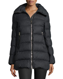 Torcelle Stripe-Quilted Puffer Jacket