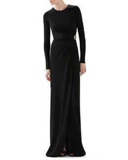 Gucci Crepe Viscose Jersey Gown