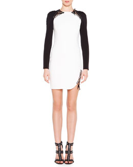 Emilio Pucci Crisscross Laced Colorblock Dress