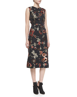 Marc Jacobs Floral-Print Sequined Dress