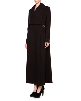 Giorgio Armani Long Asymmetric Single-Button Coat