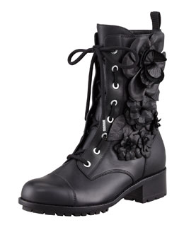 Valentino Techno Couture Combat Boot