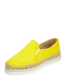 Jimmy Choo Dawn Zebra-Embossed Canvas Espadrille