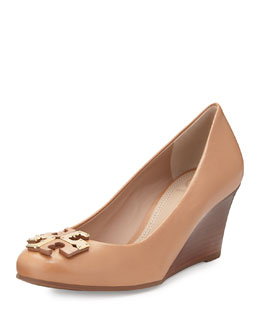 Tory Burch Lowell New Logo Wedge Pump, Natural Blush