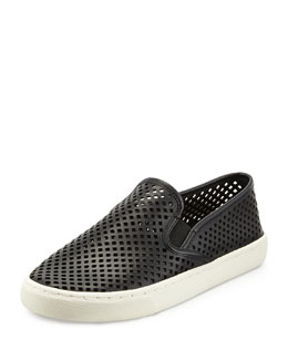 Tory Burch Jesse Perforated Slip-On Sneaker, Black