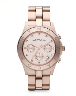 MARC by Marc Jacobs Blade Watch, Rose Golden