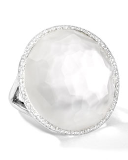 Ippolita Stella Large Lollipop Ring in Mother-of-Pearl Doublet with Diamonds