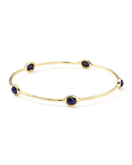 Ippolita 18k Gold Rock Candy Oval Lapis Bangle