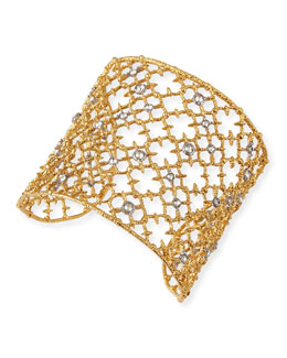 Alexis Bittar Gilded Muse d'Ore Crystal-Studded Cuff Bracelet