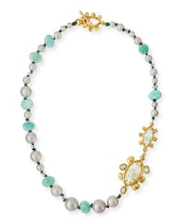 Elements Pearly Amazonite Necklace