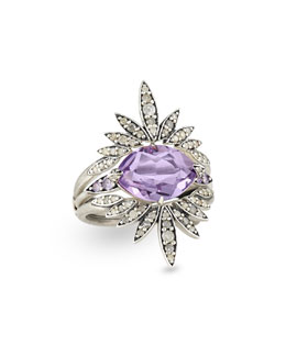 Alexis Bittar Fine 3-in-1 Convertible Ring with Amethyst, Diamond & Sapphire