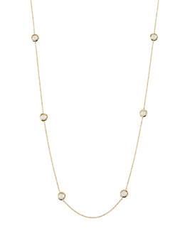 "Ippolita 18k Lollipop Mini Stone Station Necklace, 50""L"