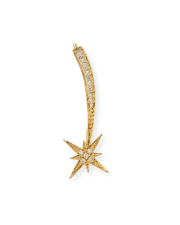 Sydney Evan 14K Gold Shooting Star Diamond Ear Climber