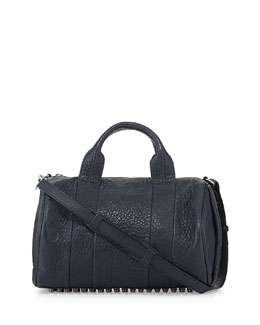 Alexander Wang Rocco Stud-Bottom Duffel Bag, Navy