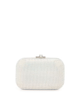 Judith Leiber Pave Crystal Minaudiere, Silver