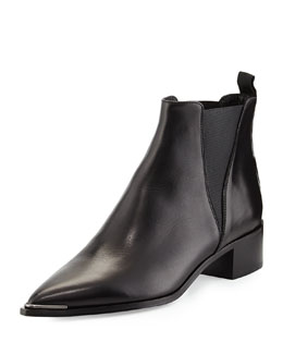 Jensen Pointy-Toe Ankle Boot, Black
