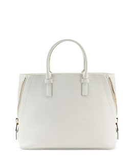 Tom Ford Jennifer Medium Trap Tote Bag, White