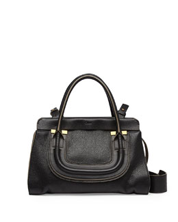 Chloe Everston Medium Double Satchel Bag, Black