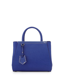 Fendi 2Jours Mini Shopping Tote, Cobalt Blue