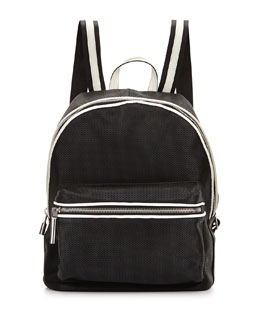 Elizabeth and James Cynnie Perforated Backpack, Black/Ivory