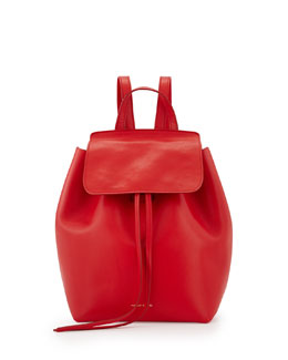 Mansur Gavriel Mini Structured Leather Backpack, Flamma