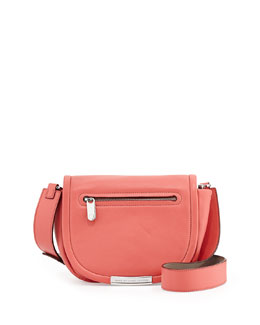 MARC by Marc Jacobs Luna Leather Saddle Crossbody Bag, Rose Bush