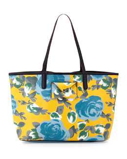 MARC by Marc Jacobs Metropolitote Floral-Print Tote Bag, Yellow Jacket
