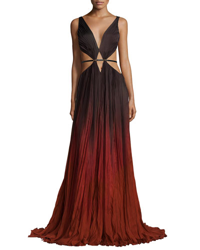 Sleeveless Degrade Gown W/Cutouts