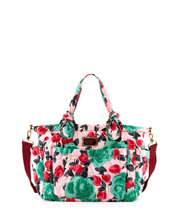 MARC by Marc Jacobs Eliz-A-Baby Pretty Nylon Diaper Bag, Floral