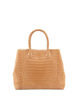 Nancy Gonzalez Crocodile Weekend Tote Bag, Beige