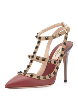 Valentino Lacquered Rockstud Leather Pump