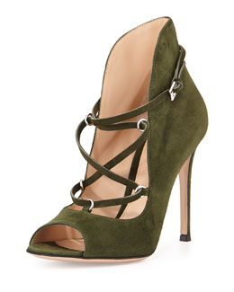 Lace-Up Suede U-Bootie