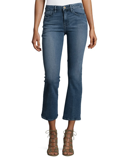 Le Crop Mini Boot-Cut Jeans, Spring Street