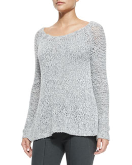 Cashmere-Blend Hand-Loomed Sweater