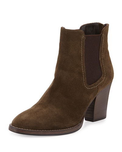 Fairly Suede Chunky-Heel Ankle Boot