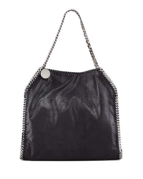 Baby Bella Faux Leather Tote Bag, Black