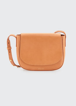 Mansur Gavriel Vegetable-Tanned Leather Crossbody Flap Bag