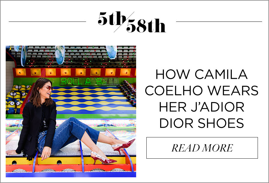 How Camila Coelho Wears Her J'Adior Dior Shoes