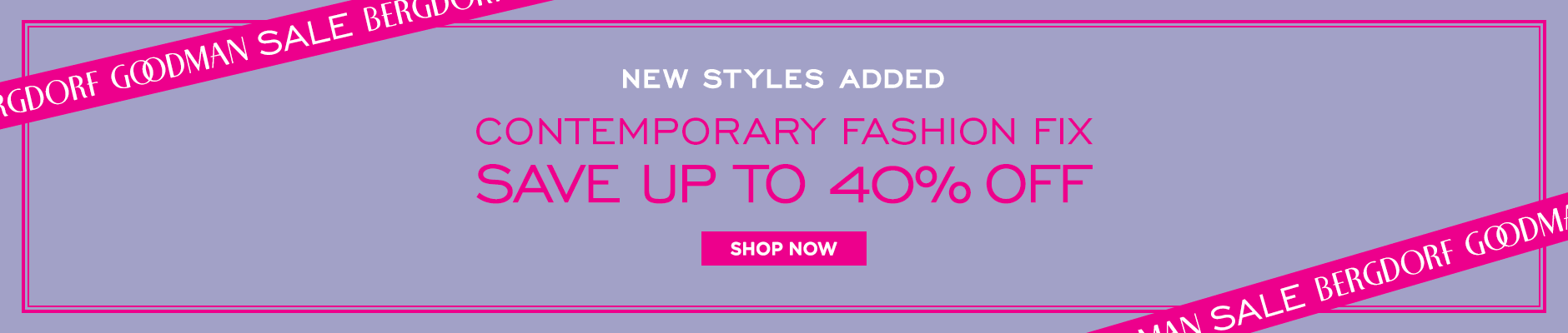 Contemporary Fashion Fix Sale