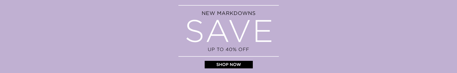 Sale New Markdowns