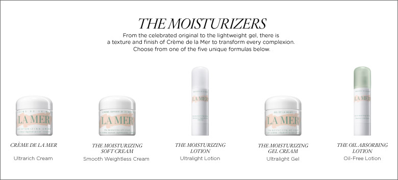 La Mer Moisturizer Collection