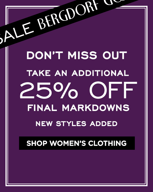 Extra 25% Off Final Markdowns Sale- Women's Clothing