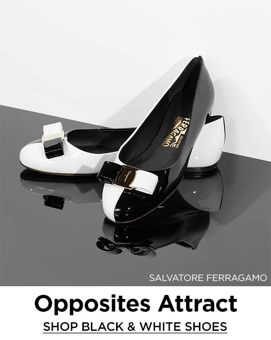 Shop Black & White Shoes