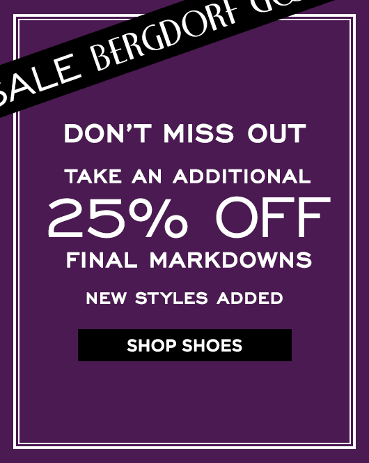 Extra 25% Off Final Markdowns Sale - Shoes