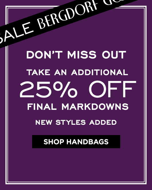 Extra 25% Off Final Markdowns Sale - Handbags