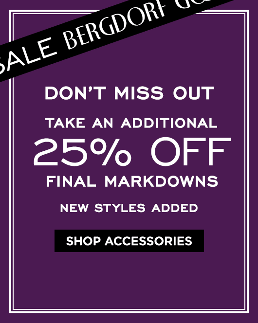 Extra 25% Off Final Markdowns Sale - Accessories & Jewelry